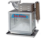 Snow Cone Machine  Just add ice trhough the top hopper and anyone can produce delicious snow kones.