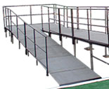 Stage  Ramp with Guardrails
