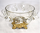 3 Gallon Plastic Punch bowl with ladled 0080-1930