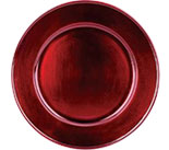 "13"" Red Charger Smooth Rim 0080-0632"