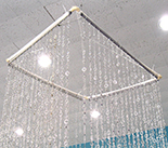 Hip Circle Beaded Curtain Metallic Silver