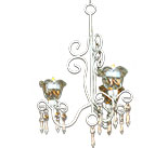 French Chic Candle Chandelier - 0095-2103