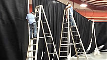 step-by-step instructions on how to set up a portable 16' pipe & drape event