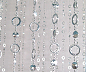 6ft Hip Circle Beaded Curtain - Metallic Silver