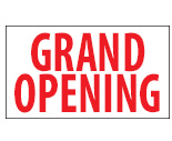 3Ft x 10Ft Grand Opening Banner
