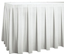 "8'x18"" White Pleated Skirt Bar/Stage 0085-0098"
