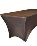 8' Rectangular Spandex Table Cover - Brown 0085-0148