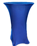 "30"" Cocktail Spandex Table Covers Royal Blue 0085-0153"
