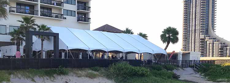 Keder Frame Tents offer unobstructed interiors in almost any lenght!