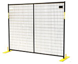 Black Powder Coated fence Panels 6'x7.5', 28 pannels per pallet