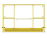 Safety Rails with intergated toe boards